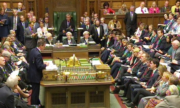 David Cameron is taking PMQs