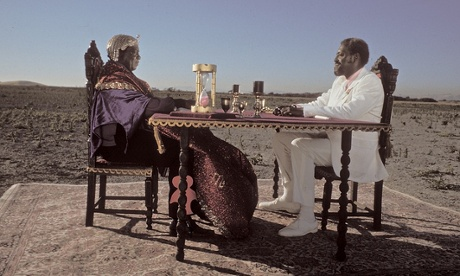 Freemason and Egyptology fanatic Sun Ra plays cards with the overseer in the 1974 film Space is the