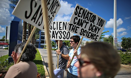 Activists Demonstrate Against Sen. Rubio's Miami Office