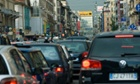 Rush-hour traffic in Milan