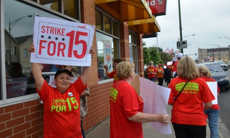 US money strike 15 minimum wage