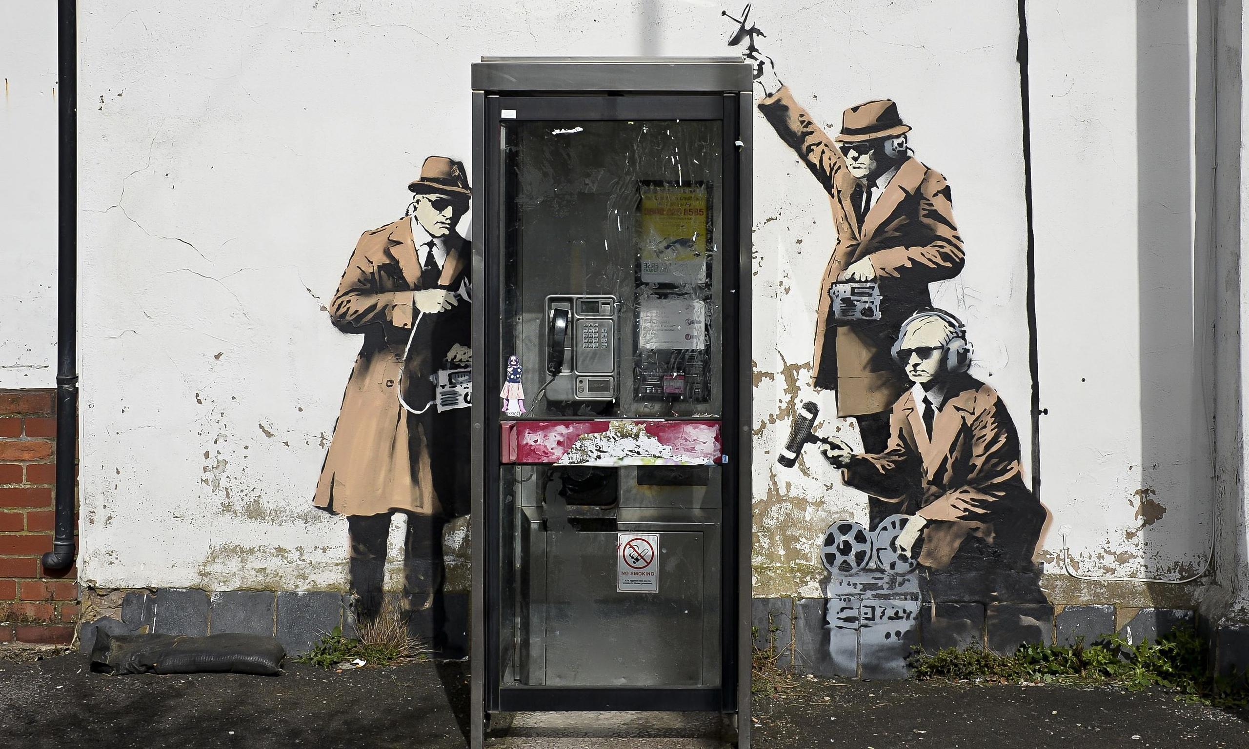 banksy spies mural  maintenance work on property halted