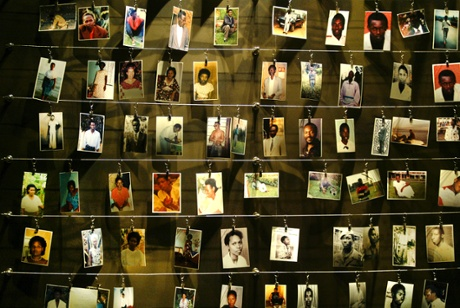 A memorial to some of the people who died in the 1994 genocide in Rwanda.