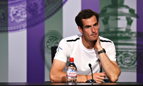 Andy Murray speaks at a press conference after losing today, 2 July 2014.