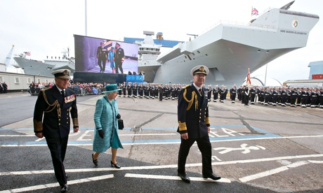 Queen Elizabeth II Names The New Aircraft Carrier HMS Queen Elizabeth