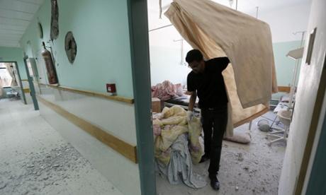 gaza hospital hit