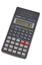 A pocket calculator