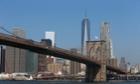 White flag atop Brooklyn bridge