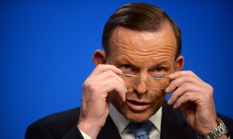 Prime minister Tony Abbott during a press conference.