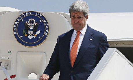 John Kerry defies flight ban to attend Israel ceasefire talks...