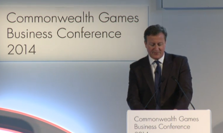 David Cameron speaking in Glasgow