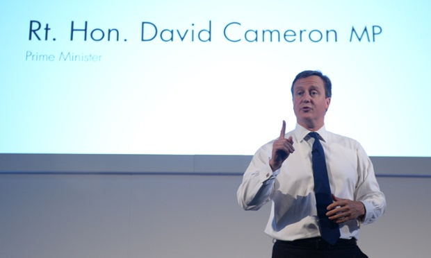 David Cameron speaking at the Commonwealth Games Business Conference in Glasgow