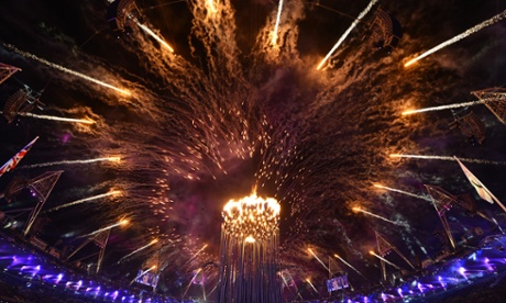 the Olympic cauldron at the opening ceremony of the London 2012 Paralympic Games