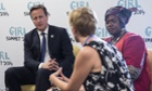 David Cameron talks to FGM campaigners