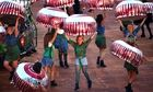 Dancers dressed Tunnocks teacakes