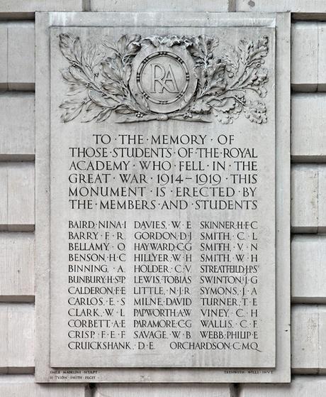 Royal Academy memorial