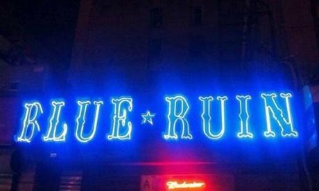 Cocina Ruina azul del infierno