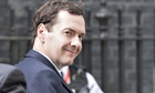 George Osborne arrive at 10 Downing Street.