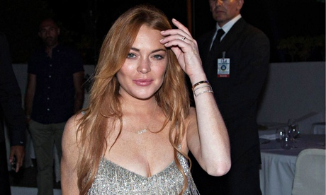 Lindsay Lohan is falling over herself to collect her comeback award