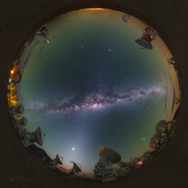 Skyscape shot 5,100 meters above sea level in the Chilean Andes, a rarefied atmosphere of 50% sea level pressure, the Milky Way's is joined by Venus  in a strong band of predawn Zodiacal light