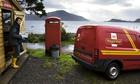 Royal Mail postman on Scotland's Inverie peninsula