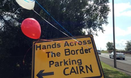Hands Across the Border launch in Gretna, last Sunday