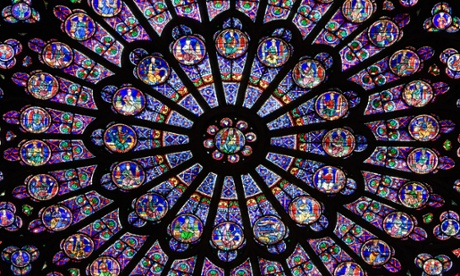 Notre Dame, North side of Rose Window, Paris