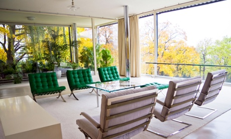 Living room, villa Tugendhat, Brno,Czech Republic