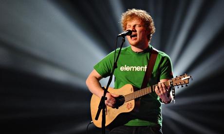 Ed Sheeran at The Brit Awards, 21 Feb 2012
