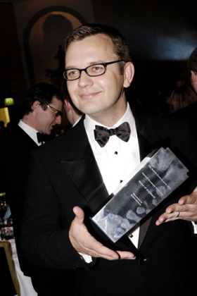 Andy Coulson with newspaper of the year award