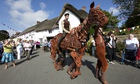 Joey, the puppet star of the stage version of War Horse, visits Iddesleigh