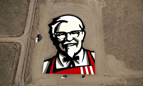 The giant KFC logo of founder Colonel Sanders