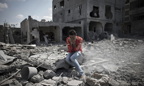 Destruction in Gaza Strip