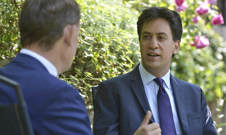 The Labour leader, Ed Miliband, made his comments on The Andrew Marr Show on BBC1. Photograph: BBC/Reuters