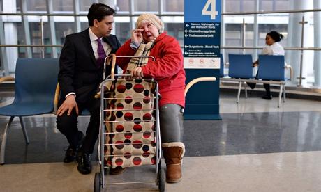 ed Miliband visit to Whittington hospital