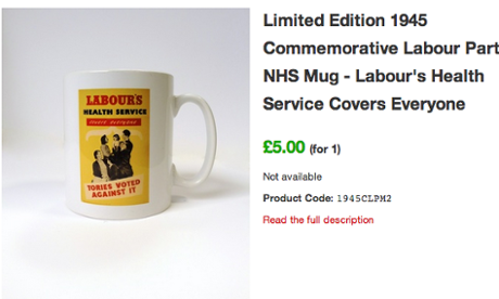 NHS Labour mug
