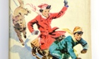 Detail from the cover of Enid Blyton's Five Get Into a Fix