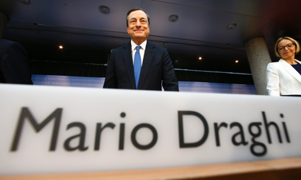 European Central Bank (ECB) President Mario Draghi arrives  for the monthly ECB news conference in Frankfurt June 5, 2014.