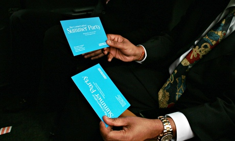 Invitations to the Conservatives' summer party at the Hurlingham private members' club