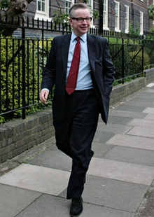 Michael Gove, the education secretary, arriving at the Tory summer party at the Hurlingham Club