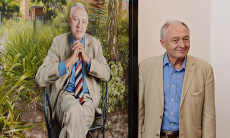 Ken Livingstone next to his portrait at the National Portrait Gallery