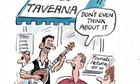 Greek tourism cartoon