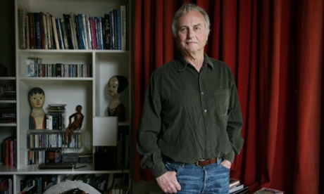 Richard Dawkins at home.