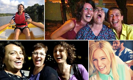 Turkish Women laugh on twitter