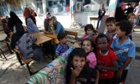 Displaced Palestinians take shelter at the United Nations school at the Rafah refugee camp on July 30 in Gaza.