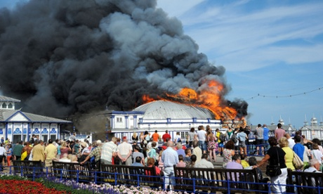 Eastbourne's Victorian pier goes up in flame  in pictures