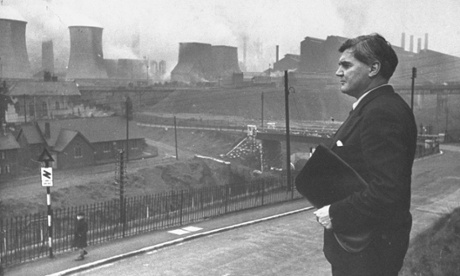 An image from a past campaign: Nye Bevan at what was the largest steel plant in Europe
