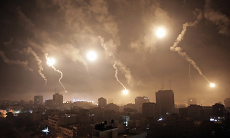 Missiles over Gaza