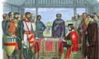 King John signing Magna Carta at Runnymeade on 15 June 1215