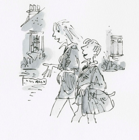 The Boy in the Dress, written by David Walliams, first published by HarperCollins 2008 Dennis and his friend Lisa discuss shoes as they walk home from school.